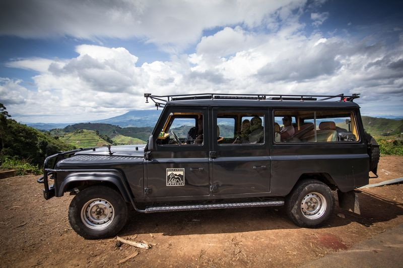 Volcanoes Safaris' Land Rover Defender