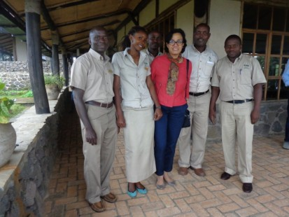 World Bank managing director with Volcanoes Safaris staff.