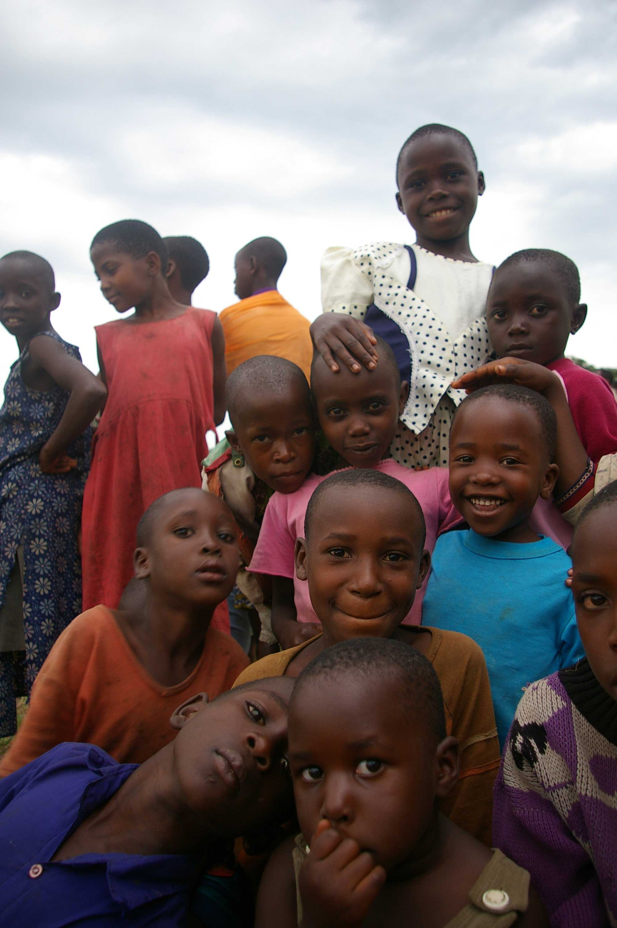 Children at Imbabazi Orphanage smiling for the camera