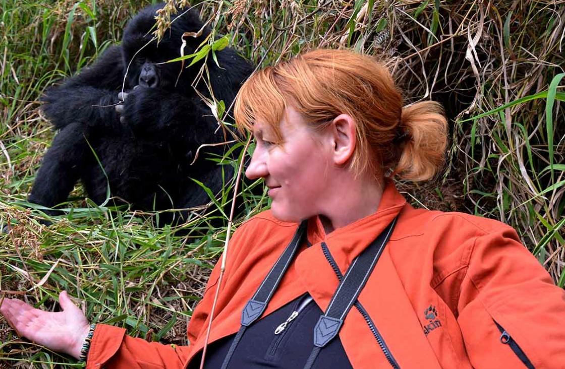 Sasha, gorilla tracking.