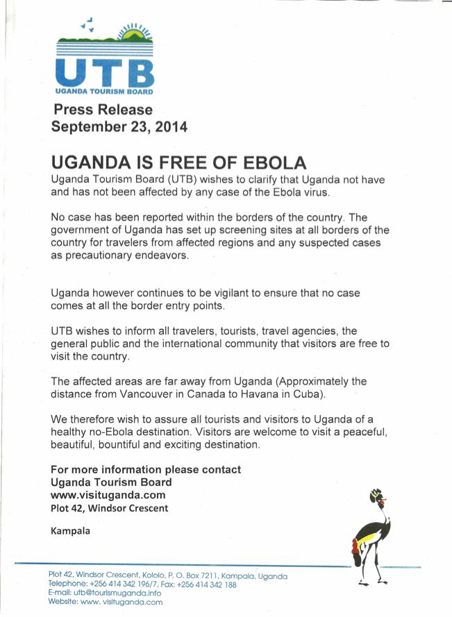 UTB Ebola Press Release