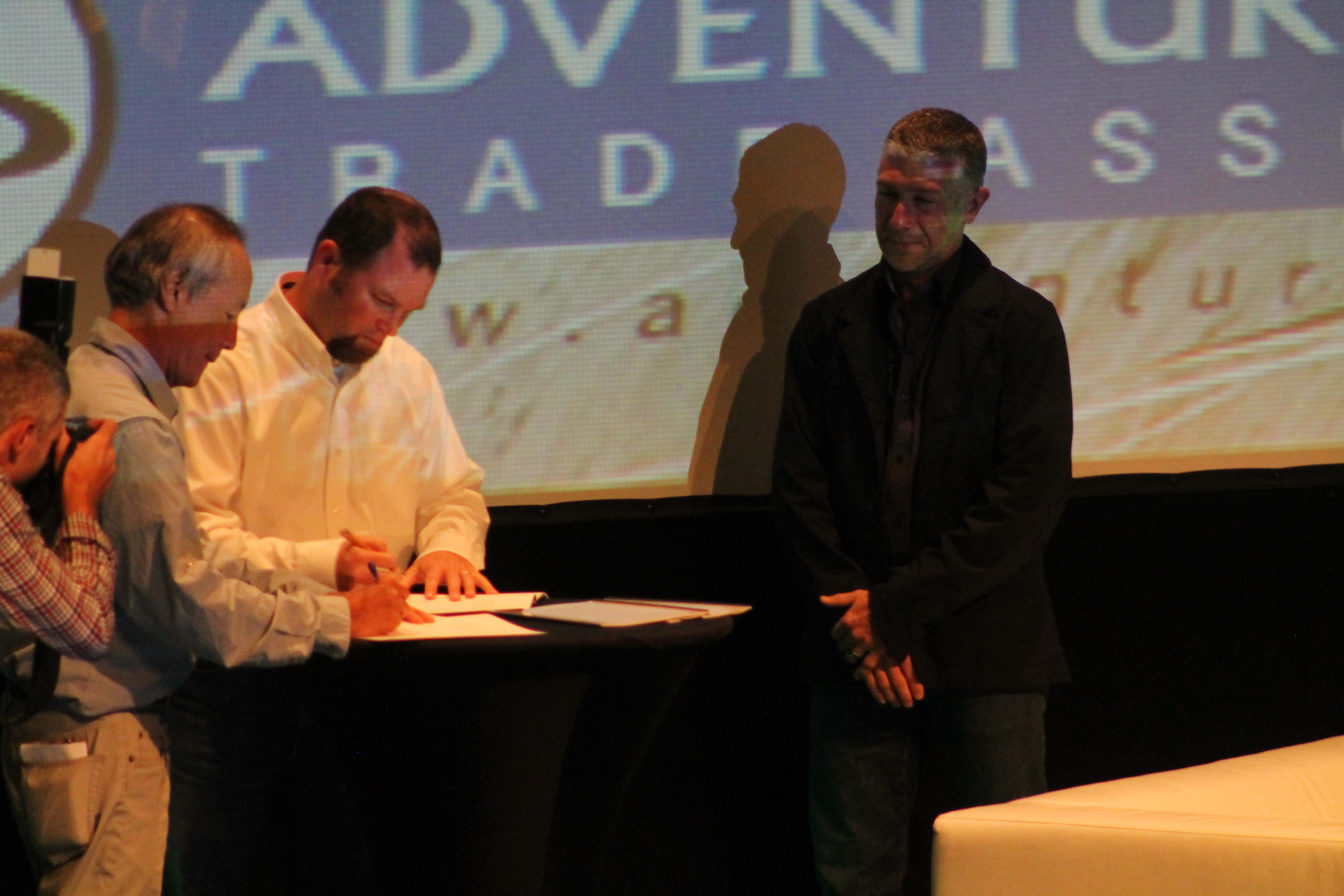 Signing of the memorandum