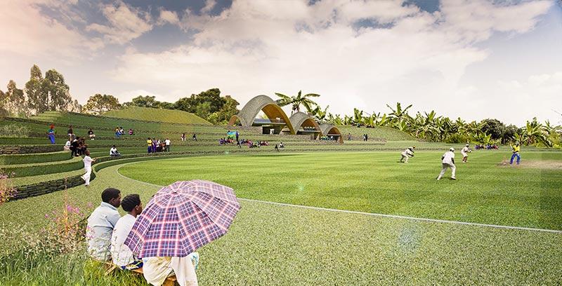 Rwanda Cricket Stadium Foundation visualisation of proposed international standard cricket ground Kigali