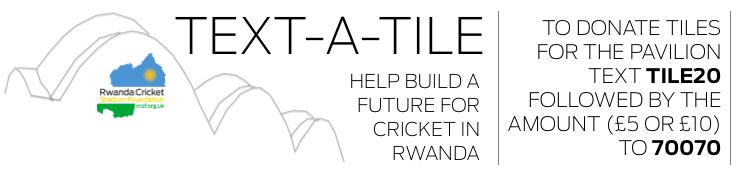 Text a Tile - Help Build a Future for Cricket in Rwanda logo