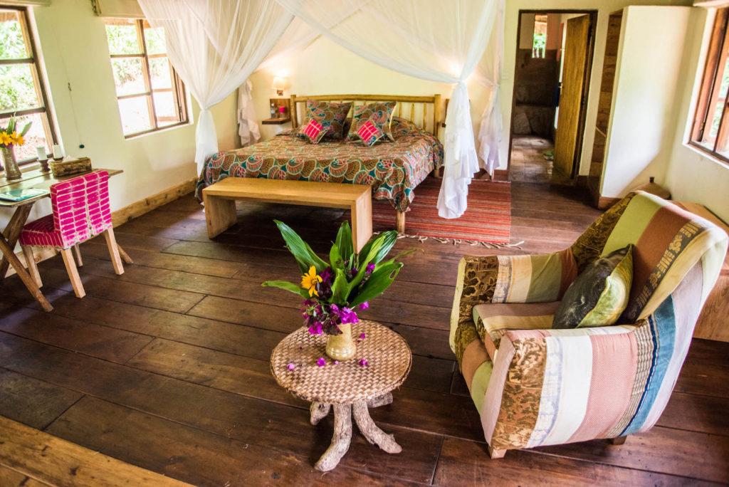 Bwindi Lodge newly refurbished deluxe banda